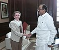 The Secretary of State for Foreign and Commonwealth Affairs, United Kingdom, Ms Margaret Beckett calls on the Union Finance Minister, Shri P. Chidambaram, in New Delhi on November 02, 2006.jpg