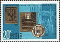 The Soviet Union 1968 CPA 3693 stamp (Gold Medal, Gold Medal and Plaque, Hofburg Palace and St. Stephen's Cathedral (Exhibitions, Vienna, Austria, Luposta, 1961, Wipa, 1965)).jpg
