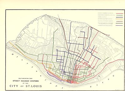 Trams San Francisco Map.Streetcars In St Louis Wikipedia