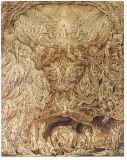 <i>A Vision of the Last Judgement</i> painting by William Blake