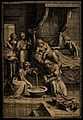 The birth of the Virgin Mary, Anna is being attended upon wh Wellcome V0015000.jpg