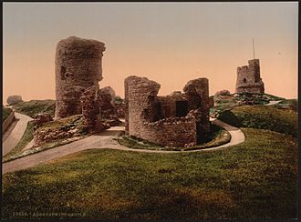 Aberystwyth Castle - The ruins of Aberystwyth Castle in the 1890s