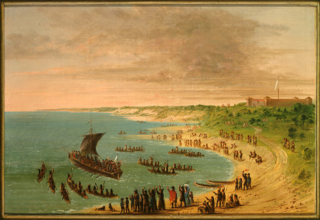 The Expedition Leaving Fort Frontenac on Lake Ontario.  November 18, 1678