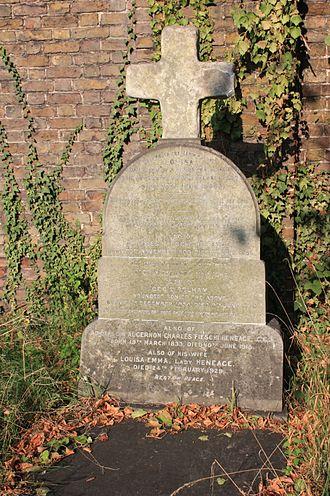 Algernon Heneage - The grave of Admiral Algernon Heneage, Brompton Cemetery