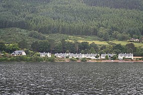 The hamlet of Lochend on the shore of Loch Ness - geograph.org.uk - 1455115.jpg