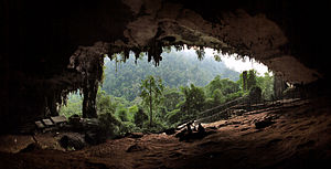 History of Sarawak - The main entrance to the Niah Caves