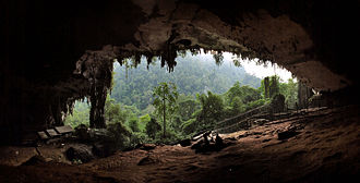 History of Southeast Asia - Niah Cave entrance at sunset