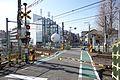 The railway crossing Dai-ni Nakazato Fumikiri, Kita-ku, Tokyo, Japan.jpg
