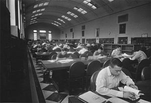 University of Utah College of Science - The reading room in Thomas Library circa 1950