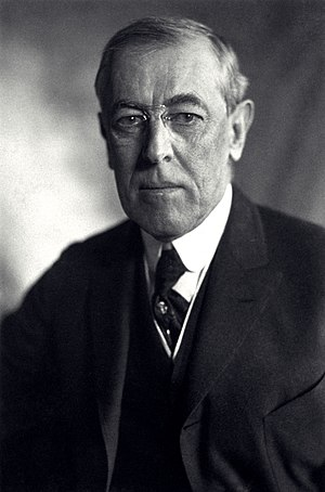 The Big Four (World War I) - Portrait of Thomas Woodrow Wilson, 1919.