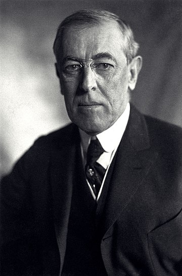 Bryan served as Secretary of State under President Woodrow Wilson Thomas Woodrow Wilson, Harris & Ewing bw photo portrait, 1919.jpg