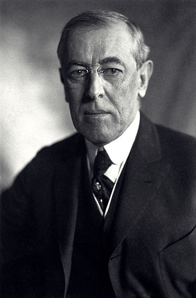 File:Thomas Woodrow Wilson, Harris & Ewing bw photo portrait, 1919.jpg