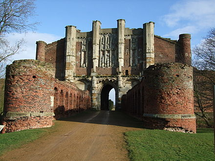 The gatehouse of Thornton Abbey from the outside Thornton Abbey Gatehouse1.jpg