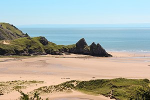 Three Cliffs Bay - Image: Three Cliffs Bay (July 2012)