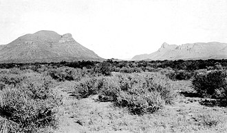 Van Horn, Texas - Image: Threemile 1913 USGS