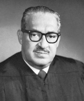 English: thurgood marshall in his robe