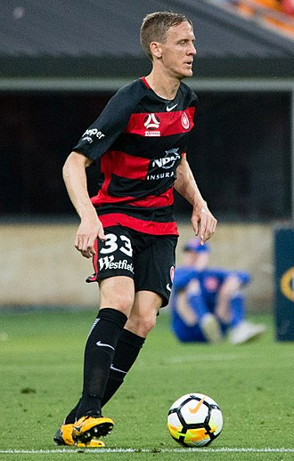 Michael Thwaite - Thwaite playing for Western Sydney Wanderers FC in 2017