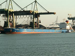 Tianshenghai IMO 9137600, Mississippi harbour, Port of Rotterdam, Holland 12-Mar-2006.jpg