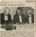 Tidningsurklipp Dagens Nyheter Gottfrid Björklund avgång Borgarråd Stockholm 1940-10-01.jpg