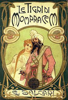 Le tigri di Mompracem, illustrazione di Alberto Della Valle (1900)