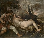 Tiziano Vecellio, called Titian - Nymph and Shepherd - Google Art Project.jpg