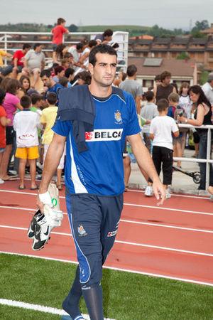 Toño Ramírez - Toño training with Real Sociedad in 2009