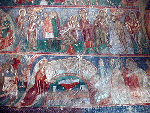 Churches of Göreme - The Last Supper scene in the Christological cycle of the Old Church