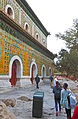Tourists at rear of Hall of the Sea of Wisdom, Summer Palace, Beijing.jpg