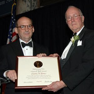 Charles H. Townes - Townes (right) receiving the 2006 Vannevar Bush Award
