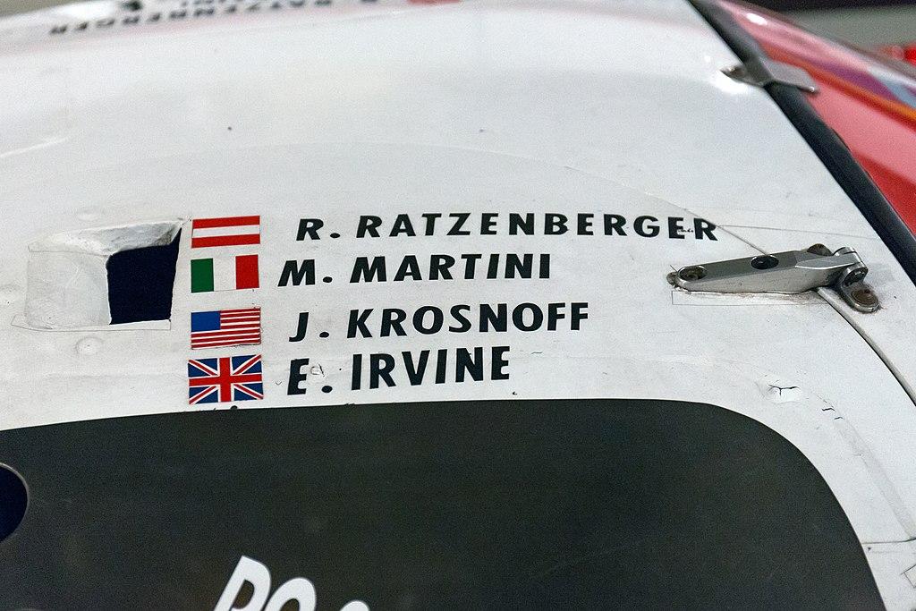 Nazwisko Ratzenbergera na Toyocie startującej w 24-godzinnym wyścigu w Le Mans