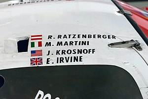 1994 24 Hours of Le Mans - Roland Ratzenberger's name was left on the Toyota 94C-V as a tribute.