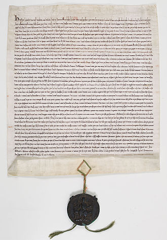 Treaty of Paris (1259) - Ratification of the Treaty of Paris by Henry III, 13 October 1259. Archives Nationales (France).