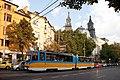 Tram in Sofia near Macedonia place 2012 PD 081.jpg