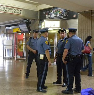 New Jersey Transit Police Department - NJ Transit Police Officers at Newark Penn Station