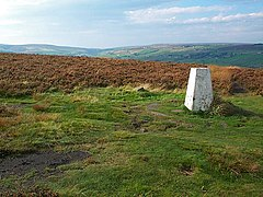 Looking to the north west from the trig point on Penistone Hill Country Park