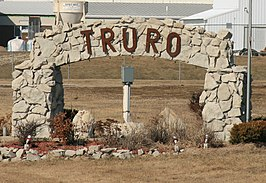 Welcome sign van Truro