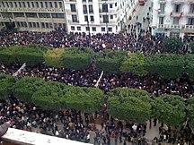 Tunisia-Post-revolution (since 2011)-Tunisia Unrest - VOA - Tunis 14 Jan 2011 (2)