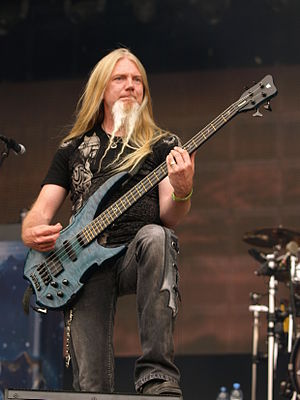 Nightwish - Nightwish's current bassist, Marco Hietala, who replaced Sami Vänskä in the fall of 2001.