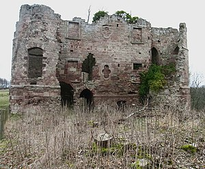 Pedro de Ayala - Twizell Castle on the River Till was destroyed by the Scots in 1496, the ruins were partially reconstructed in the 18th-century