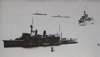 Jingei-class submarine tender - Image: Two japanese Jingei class submarine tenders