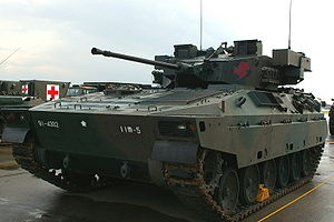 A Type 89 at the JGSDF public information center.