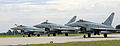 Typhoon Aircraft Depart RAF Coningsby for their New Home at RAF Leuchars in Scotland MOD 45151814.jpg