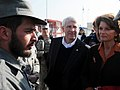 U.S. Senators Lisa Murkowski and Roger F. Wicker speak with an Afghan Nation Police Officer at the Central Training Facility (4278134669).jpg