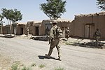 U.S. Soldiers with Charlie Troop, 3rd Squadron, 73rd Cavalry Regiment, 1st Brigade Combat Team, 82nd Airborne Division conduct a search in Pana village, Ghazni province, Afghanistan, July 24, 2012 120724-A-NI188-018.jpg