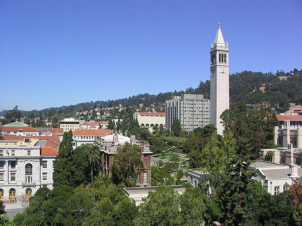 Panorama of the eastern part of UC Berkeley