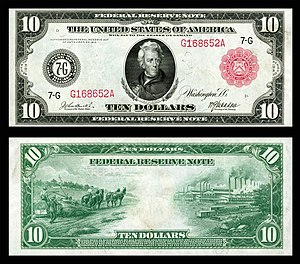 Federal Reserve Note - 1914 $10 FRN, Federal Reserve Bank of Chicago.