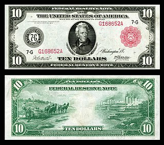 Federal Reserve Note Current paper currency of the United States