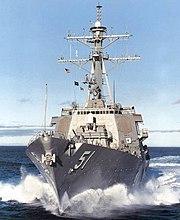 USS Arleigh Burke (DDG-51) approach