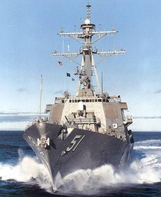 Hull number - Image: USS Arleigh Burke (DDG 51) approach