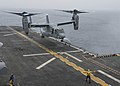 USS Bonhomme Richard lands the first Osprey in US 7th Fleet.jpg